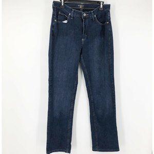 Riders Womens 12 Straight Leg Classic Blue Jeans